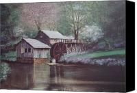 Grist Mill Canvas Prints - Mabry Mills Canvas Print by Charles Roy Smith