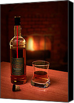 Glass Photo Canvas Prints - Macallan 1973 Canvas Print by Adam Romanowicz