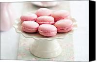Cake-stand Canvas Prints - Macarons Canvas Print by Ruth Black