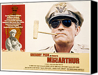 Subject Poster Art Canvas Prints - Macarthur, Gregory Peck, 1977 Canvas Print by Everett