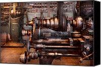 Old Mill Scenes Canvas Prints - Machinist - Steampunk - 5 Speed Semi Automatic Canvas Print by Mike Savad