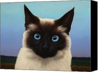 Kitty Canvas Prints - Machka 2001 Canvas Print by James W Johnson