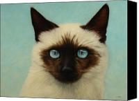 Kitty Canvas Prints - Machka Canvas Print by James W Johnson