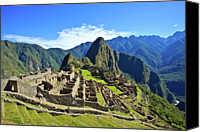Ancient Photo Canvas Prints - Machu Picchu Canvas Print by Kelly Cheng Travel Photography