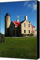 Old Chicago Water Tower Canvas Prints - Mackinac island Lighthouse Canvas Print by LeeAnn McLaneGoetz McLaneGoetzStudioLLCcom
