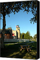 Old Chicago Water Tower Canvas Prints - Mackinac Park Picnic Canvas Print by LeeAnn McLaneGoetz McLaneGoetzStudioLLCcom