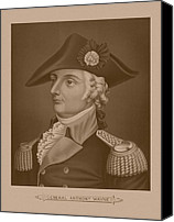 Wayne Canvas Prints - Mad Anthony Wayne Canvas Print by War Is Hell Store