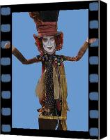 Mad Hatter Canvas Prints - Mad As A Hatter Canvas Print by Cathi Doherty