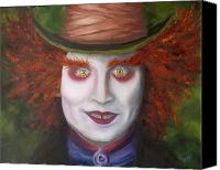 Mad Hatter Canvas Prints - Mad as a Hatter Canvas Print by Thea Gilliam