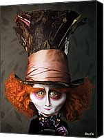 Mad Hatter Canvas Prints - Mad Hatter Canvas Print by BaloOm Studios