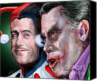 Mitt Canvas Prints - Mad Men Series  4 of 6 - Romney and Ryan Canvas Print by Reggie Duffie