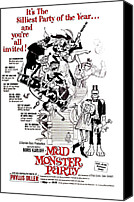 Horror Fantasy Movies Canvas Prints - Mad Monster Party, 1967 Canvas Print by Everett