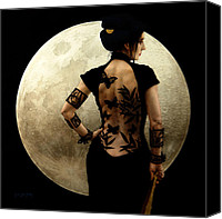 Luna Canvas Prints - Madame Butterfly Canvas Print by Jose Luis Munoz Luque