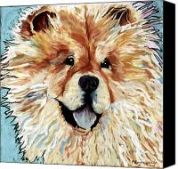 Pet Portrait Pastels Canvas Prints - Madame Chu Cho Canvas Print by Pat Saunders-White