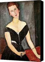 Modigliani Canvas Prints - Madame G van Muyden Canvas Print by Amedeo Modigliani