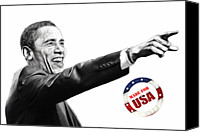 Barack Canvas Prints - Made for USA Canvas Print by Stefan Kuhn