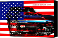 Made In The Usa Digital Art Canvas Prints - Made In The USA . Pontiac GTO Canvas Print by Wingsdomain Art and Photography