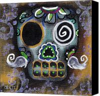 Sugar Skull Painting Canvas Prints - Made of Sugar Canvas Print by  Abril Andrade Griffith