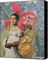 Collage Canvas Prints - Mademoiselle Caroline  Canvas Print by Kanchan Mahon