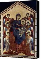 Byzantine Photo Canvas Prints - Madonna & Child In Majesty Canvas Print by Granger