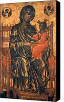 Byzantine Icon Canvas Prints - MADONNA ICON, 13th CENTURY Canvas Print by Granger