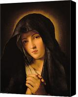 Virgin Mary Painting Canvas Prints - Madonna Canvas Print by Il Sassoferrato