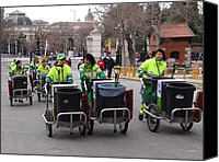 Retiro Canvas Prints - Madrid Street Cleaners Canvas Print by Keith Stokes