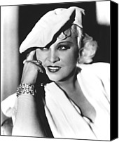 Publicity Shot Canvas Prints - Mae West, Paramount Pictures, Ca. Mid Canvas Print by Everett