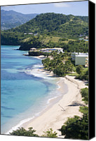 St George Canvas Prints - Magazine Beach From Maca Bana Villas, Point Salines, Grand Anse, St George, Grenada, Central America & The Caribbean Canvas Print by Holger Leue