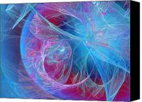 Fine Art Fractal Art Canvas Prints - Magenta Blue Canvas Print by Andee Photography