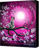 Tree Painting Special Promotions - Magenta Morning Sakura Canvas Print by Laura Iverson