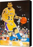 Magic Johnson Canvas Prints - Magic Johnson Canvas Print by Estelle BRETON-MAYA