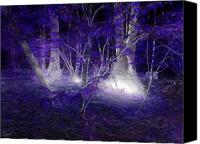 Eerie Canvas Prints - Magic Lives Within The Forest Canvas Print by Roxy Riou