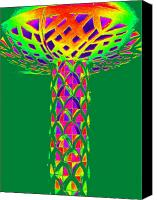 Magic Mushroom Canvas Prints - Magic Mushroom One Canvas Print by Randall Weidner