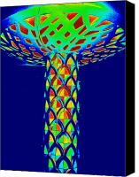 Magic Mushroom Canvas Prints - Magic Mushroom Three Canvas Print by Randall Weidner