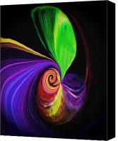 Abstract Photo Canvas Prints - Magic Sprout Canvas Print by Terril Heilman