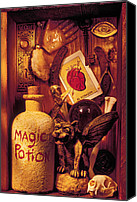 Reading Canvas Prints - Magic Things Canvas Print by Garry Gay