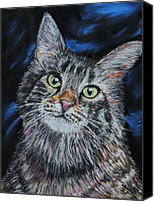 Mike Pastels Canvas Prints - Magical Mr. Mistoffelees Canvas Print by Mike Paget