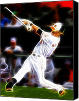 Mlb Canvas Prints - Magical Oriole Canvas Print by Paul Van Scott