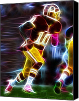 Redskins Canvas Prints - Magical RG3 Run Canvas Print by Paul Van Scott