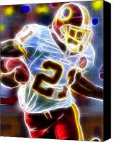 Football Drawings Canvas Prints - Magical Sean Taylor Canvas Print by Paul Van Scott