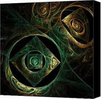 Artist Framed Prints Canvas Prints - Magical Vibrations Canvas Print by Oni H