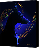 Dobe Canvas Prints - Magnificent Blue Canvas Print by Rita Kay Adams