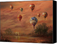 Balloon Festival Canvas Prints - Magnificent Seven Canvas Print by Tom Shropshire