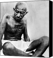 1940s Portraits Canvas Prints - Mahatma Gandhi, 78, Pauses Canvas Print by Everett