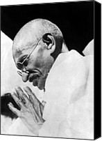 Csx Canvas Prints - Mahatma Gandhi Following His Release Canvas Print by Everett