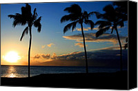 Hawaiian Islands Canvas Prints - Mai ka aina Mai ke kai Kaanapali Maui Hawaii Canvas Print by Sharon Mau