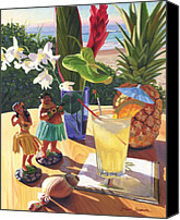 Bars Painting Canvas Prints - Mai Tai Canvas Print by Steve Simon
