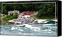 Father Christmas Canvas Prints - Maid of The Mist tour boat at Niagara Falls Canvas Print by Rose Santuci-Sofranko