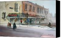 Impressionism Canvas Prints - Main Street Marketplace - Waupaca Canvas Print by Ryan Radke